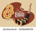 illustration of bihu festival ... | Shutterstock .eps vector #1696638190