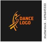 abstract dancer brush logo.... | Shutterstock .eps vector #1696645333