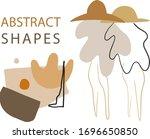 abstract summer clipart set.... | Shutterstock .eps vector #1696650850