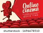 vector online cinema poster...   Shutterstock .eps vector #1696678510
