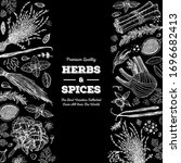 herbs and spices  hand drawn... | Shutterstock .eps vector #1696682413