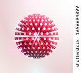 3d red ball. art  geometric... | Shutterstock .eps vector #1696694899