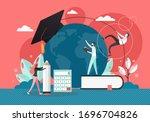 study at the university  vector ...   Shutterstock .eps vector #1696704826