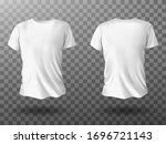 white t shirt mockup  male t... | Shutterstock .eps vector #1696721143