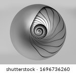 3d Render Of Abstract Black And ...