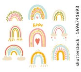 vector illustration set  cute... | Shutterstock .eps vector #1696741693
