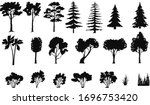 silhouettes of trees bushes ... | Shutterstock .eps vector #1696753420