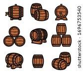 barrels collection set.... | Shutterstock .eps vector #1696753540