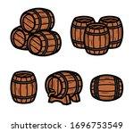 barrels collection set.... | Shutterstock .eps vector #1696753549