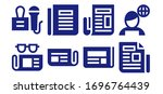 headline icon set. 8 filled...   Shutterstock .eps vector #1696764439