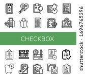 set of checkbox icons. such as...