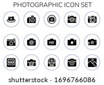photographic icon set. 15... | Shutterstock .eps vector #1696766086