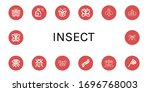 insect simple icons set.... | Shutterstock .eps vector #1696768003