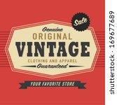 vintage label   Shutterstock .eps vector #169677689