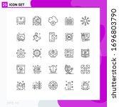 25 universal lines set for web...   Shutterstock .eps vector #1696803790