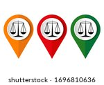 black justice scale icon on... | Shutterstock .eps vector #1696810636