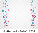 like and thumbs up icons frame. ... | Shutterstock .eps vector #1696819933