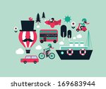 transportation flat vector/illustration - stock vector