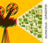 movie and cinema retro... | Shutterstock .eps vector #169683950
