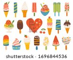 Set Of Cute Summer Icons ...