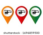 a helicopter icon on a white... | Shutterstock .eps vector #1696859500