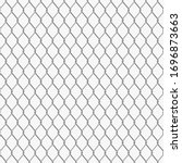 chain link fence seamless... | Shutterstock .eps vector #1696873663