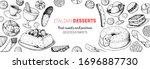italian dessert vector... | Shutterstock .eps vector #1696887730