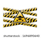 danger sign and isolated white...   Shutterstock . vector #1696890640