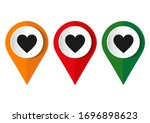 map pointer with a heart icon.... | Shutterstock .eps vector #1696898623