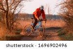 A Cyclist On A Gravel Bike...