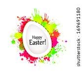 easter eggs. happy easter ... | Shutterstock .eps vector #169691180