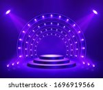 podium with lighting. stage ...   Shutterstock .eps vector #1696919566