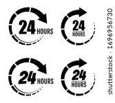 24 hours of work. 24 hours... | Shutterstock .eps vector #1696956730