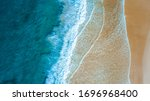 Top Down Aerial View Of Beach...
