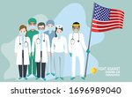 doctor and nurse characters....   Shutterstock .eps vector #1696989040