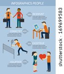 people relations infographics... | Shutterstock .eps vector #169699583