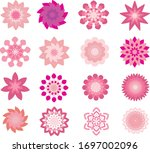 set of floral pink abstract | Shutterstock .eps vector #1697002096