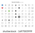 set of social media icons. ui...