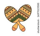 mexican maracas design  mexico... | Shutterstock .eps vector #1697015500