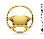 3d Render Of Golden Steering...