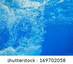 Bubbles In Fresh Blue Clear...