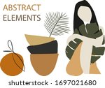 summer clipart set. woman ... | Shutterstock .eps vector #1697021680