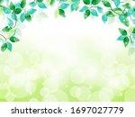 vector frame of green leaves... | Shutterstock .eps vector #1697027779