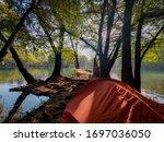 Camping Next To Camecuaro Lake