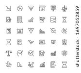 simple set of analytics icons... | Shutterstock .eps vector #1697052859
