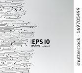 eps10 vector circuit board... | Shutterstock .eps vector #169705499