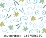 water surface and fresh green... | Shutterstock .eps vector #1697056390