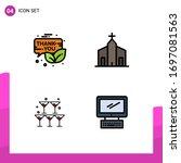 set of 4 modern ui icons...
