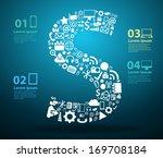 application icons alphabet... | Shutterstock .eps vector #169708184