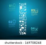 application icons alphabet... | Shutterstock .eps vector #169708268